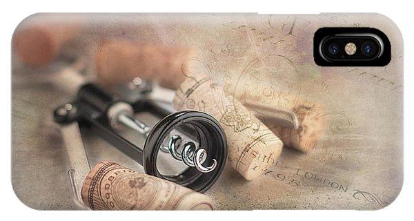 Vino iPhone Case - Corkscrew And Wine Corks by Tom Mc Nemar