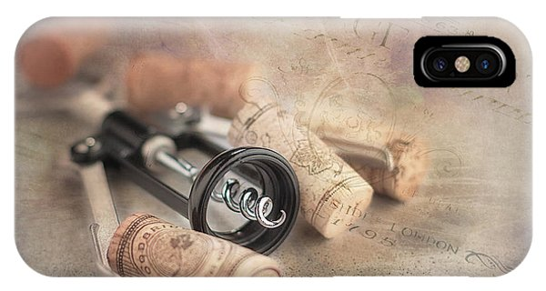 Corkscrew And Wine Corks IPhone Case