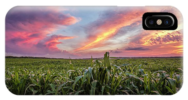 Field At Sunset IPhone Case