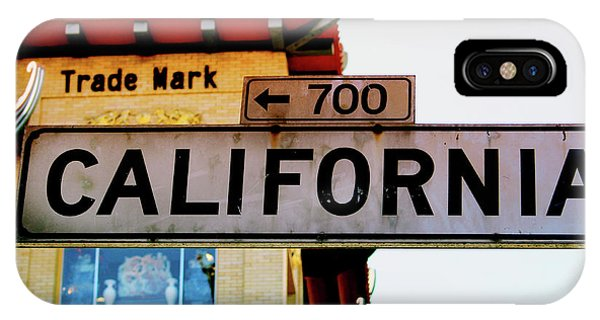 Street Sign iPhone Case - Corner Of California- Art By Linda Woods by Linda Woods