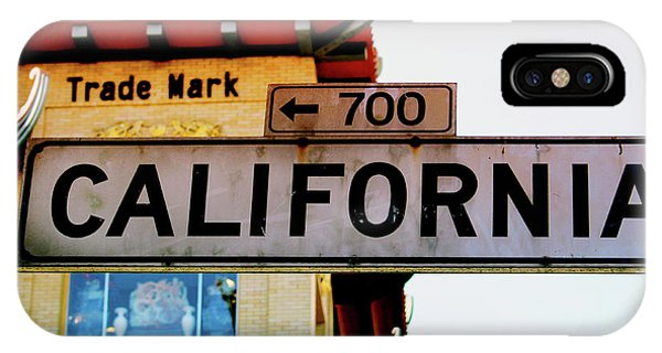 Corner Of California- Art By Linda Woods IPhone Case