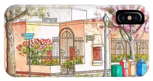 Corner With Bougainvillas In San Luis Obispo, California IPhone Case