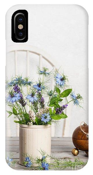 Dispenser iPhone Case - Cornflowers by Amanda Elwell