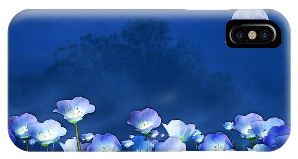 Cornflowers In The Moonlight IPhone Case