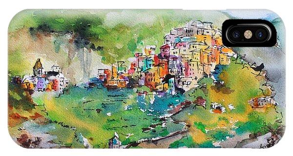 Corniglia Cinque Terre Italy IPhone Case