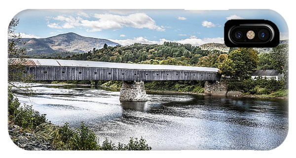 Covered Bridge iPhone Case - Cornish Windsor Covered Bridge Hdr 2 by Edward Fielding