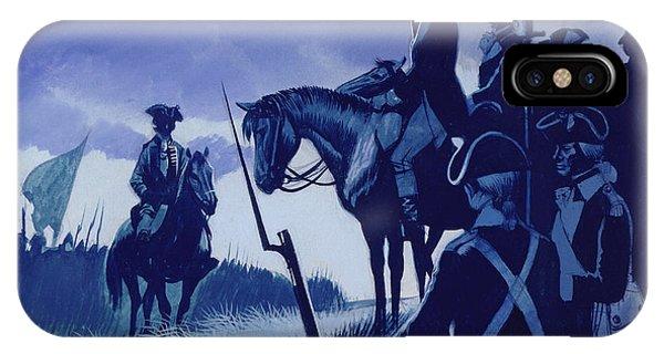 Yorktown iPhone Case - Cornwallis Surrendered At Yorktown, Ending The War  by Ron Embleton