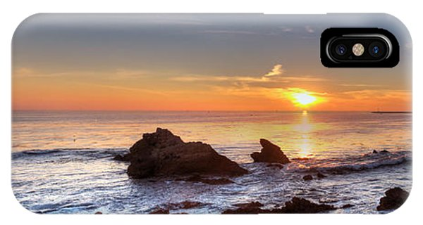 Corona Del Mar Sunset Panorama IPhone Case