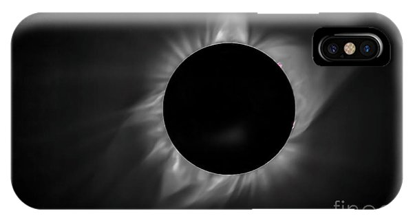 Corona During Total Solar Eclipse IPhone Case