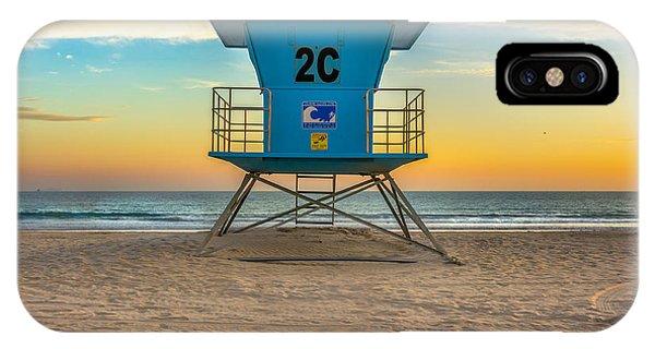 Coronado Beach Lifeguard Tower At Sunset IPhone Case
