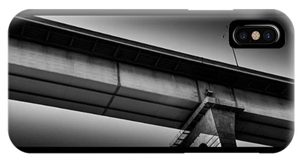 Fineart iPhone Case - Coronado Bridge Abstract Pano. I Love by Alex Snay
