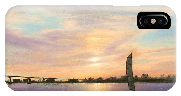 Coronado Bridge Sunset  B IPhone Case