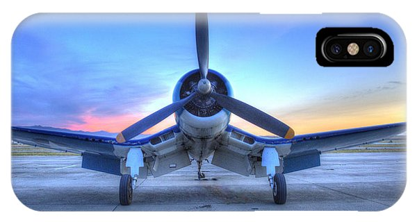 Corsair F4u At The Hollister Air Show IPhone Case