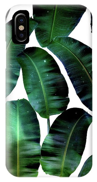 Cosmic Banana Leaves IPhone Case