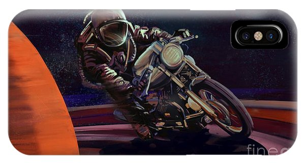 Cosmic Cafe Racer IPhone Case
