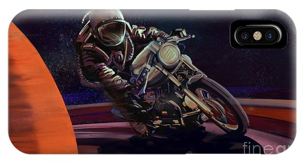 Cafe iPhone Case - Cosmic Cafe Racer by Sassan Filsoof