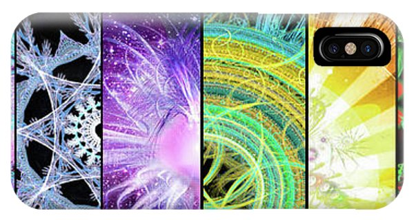 IPhone Case featuring the mixed media Cosmic Collage Mosaic by Shawn Dall