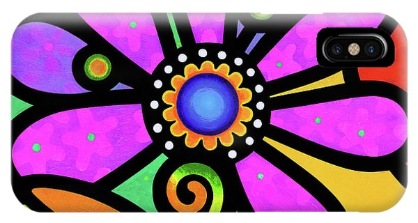 Cosmic Daisy In Pink IPhone Case