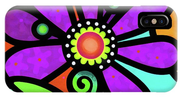 Cosmic Daisy In Purple IPhone Case