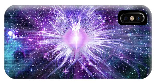 IPhone Case featuring the mixed media Cosmic Heart Of The Universe Mosaic by Shawn Dall