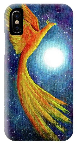 Cosmic Phoenix Rising IPhone Case