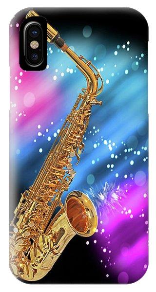 Cosmic Sax IPhone Case