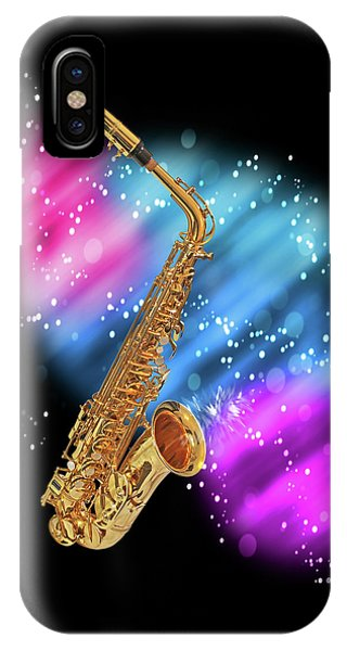 Cosmic Sax IPhone Case
