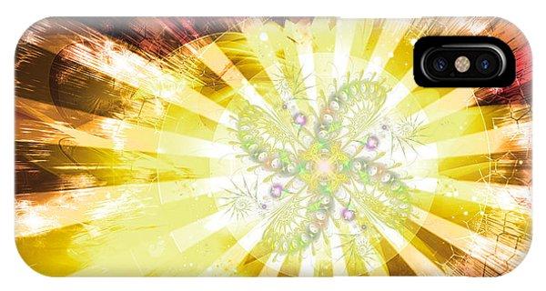 Cosmic Solar Flower Fern Flare 2 IPhone Case