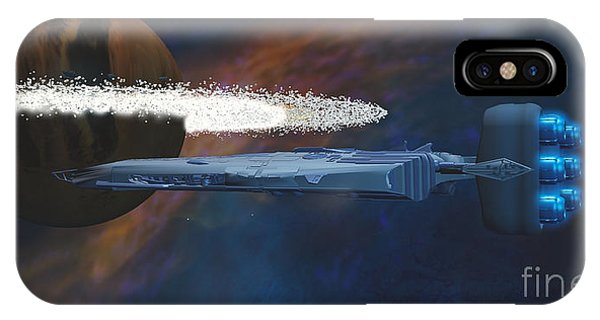 Endless iPhone Case - Cosmic Spaceship by Corey Ford