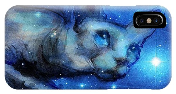 iPhone Case - Cosmic Sphynx Painting By Svetlana by Svetlana Novikova