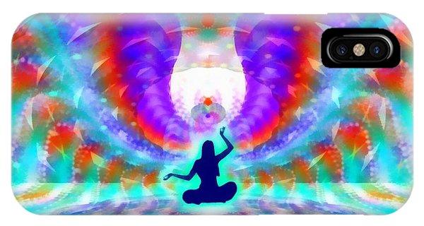 iPhone Case - Cosmic Spiral 72 Painted by Derek Gedney