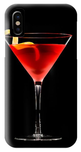Cosmopolitan Cocktail In Front Of A Black Background  IPhone Case