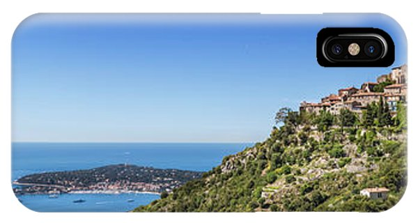 French Riviera iPhone Case - Cote D'azur Eze And Coastline - Panoramic by Melanie Viola