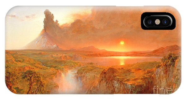 1862 iPhone Case - Cotopaxi by Frederic Edwin Church