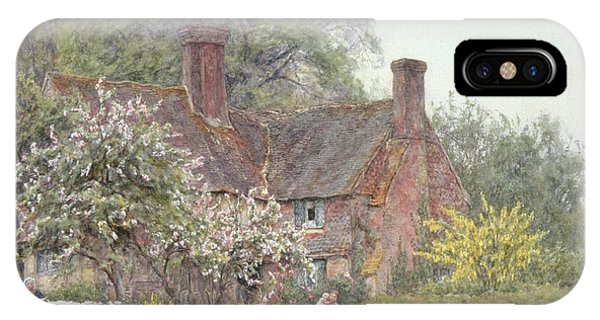 English Village iPhone Case - Cottage At Chiddingfold by Helen Allingham