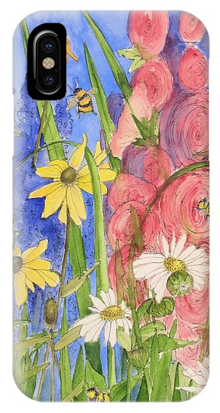 Cottage Garden Daisies And Blue Skies IPhone Case