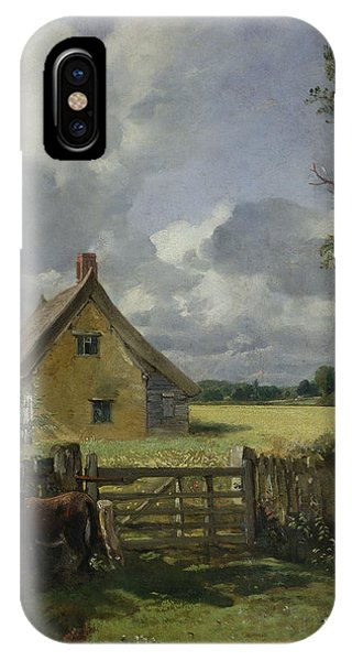 Yard iPhone Case - Cottage In A Cornfield by John Constable