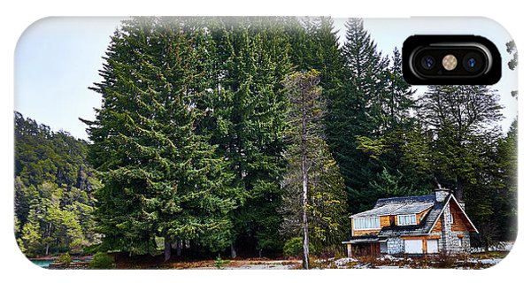 Little Cottage And Pines In The Argentine Patagonia IPhone Case
