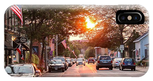 Cottage Street Summer Sunset IPhone Case