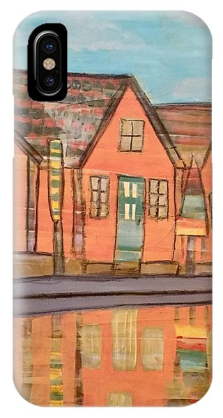 Cottages By The Beach IPhone Case