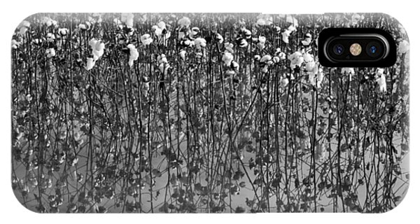 Cotton Abstract In Black And White IPhone Case