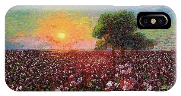 North Carolina iPhone Case - Cotton Field Sunset by Jane Small