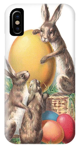 Cottontails And Eggs IPhone Case
