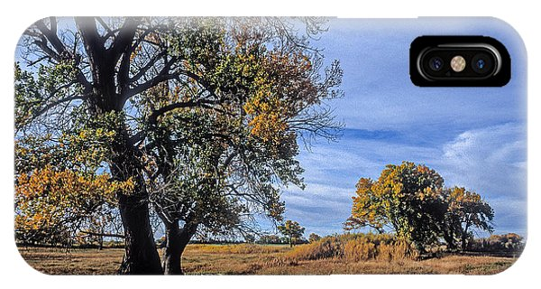 Cottonwood #5 Fall Ranch Colorado Blue Sky IPhone Case