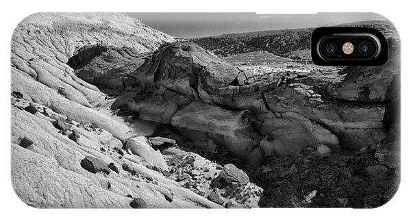 Cottonwood Creek Strange Rocks 7 Bw IPhone Case