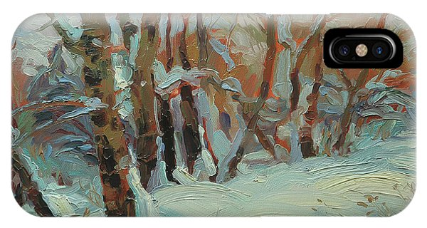 Cold iPhone Case - Cottonwood Grove by Steve Henderson