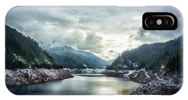 Cougar Reservoir On A Snowy Day IPhone Case