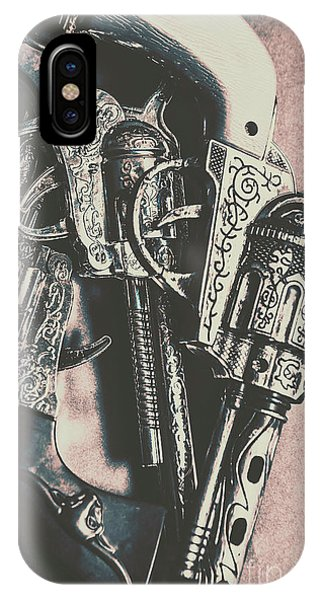 Metal iPhone Case - Country And Western Pistols by Jorgo Photography - Wall Art Gallery