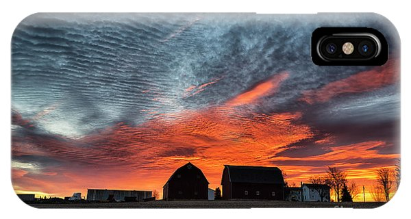 Country Barns Sunrise IPhone Case