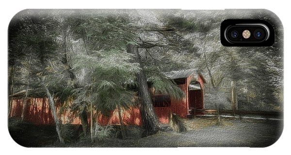 Covered Bridge iPhone Case - Country Crossing by Marvin Spates